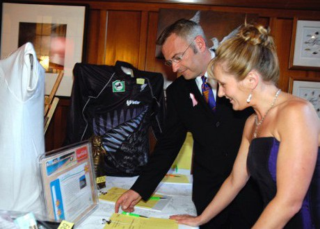 Silent Auction Action at the Ball